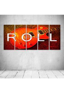Quadro Decorativo - Gitar Rock - Composto De 5 Quadros - Multicolorido - Dafiti
