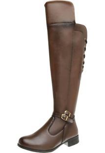 Bota Dexshoes Over Knee Marrom - Tricae