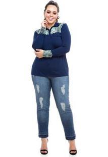 Camisa Polo Plus Size Snake Feminina - Feminino-Verde