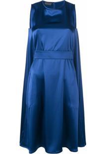 Gianluca Capannolo Vestido Com Cinto - Azul