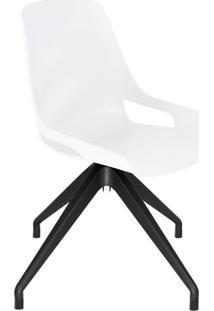Cadeira De Cozinha Giratória Beau Branca E Preta