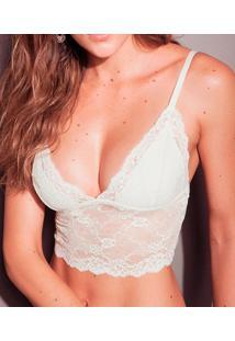 Top Cropped Rendado Darling (314.70Ow), Nude, M