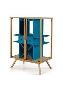 Cristaleira Mystic Cor Natural Com Azul - 28830 Azul