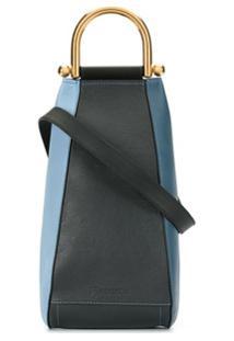 Jw Anderson Bolsa Transversal Wedge Pequena - Azul