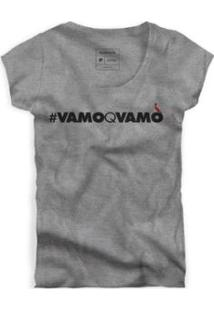 Camiseta Reserva Vamoqvamo Feminina - Feminino-Cinza