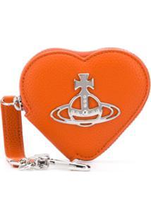 Vivienne Westwood Porta-Moedas De Coração Com Placa De Logo - Laranja