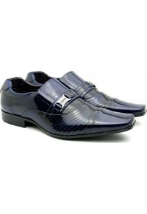 Sapato Social Couro Vnt Prince - Masculino-Marinho