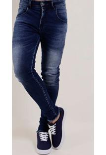 Calça Jeans Skinny Masculina Amuage Azul