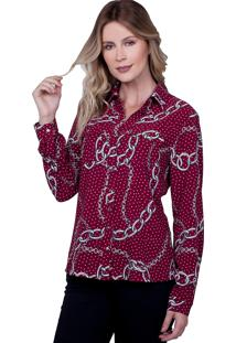Camisa Love Poetry Comfort Estampada Vinho