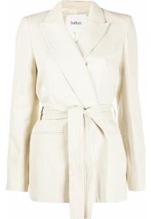 Ba&Sh Abby Tied-Waist Blazer - Neutro