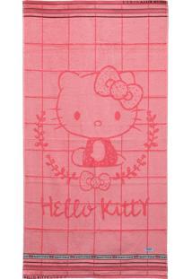 Toalha De Banho Artex Hello Kitty Rosa