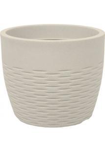 Vaso Decorativo Redondo Horizonte 28Cm X 33Cm Japi Cimento