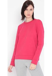 Blusão Liso Em Moletom- Pink- Malweemalwee