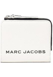 Marc Jacobs Carteira The Bold Com Zíper E Logo - Branco