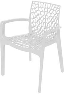 Cadeira Gruver Com Braco Polipropileno Branca - 30472 - Sun House