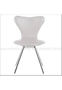 Cadeira Jacobsen Cromada Corino Branco - 12346 Sun House