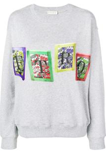 Etro Suéter Com Logo - Cinza