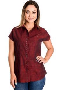 Camisa Pimenta Rosada Alicia - Feminino-Vermelho
