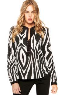 Camisa Equus Ilhoses Zebra Preta/Branca