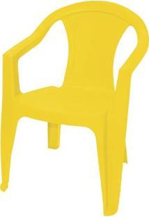 Cadeira Ilha Bela Com Braços Amarela - Tramontina