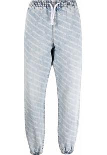 Alexander Wang Calça Jeans Com Ajuste No Cós Por Cordão - Azul