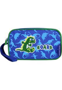 Nécessaire Dinossauro- Azul Escuro & Verde- 19X5X11Cjacki Design