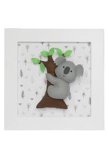 Quadro Decorativo Coala Na Árvore Quarto Bebê Infantil Menina Menino