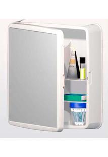 Armário Para Banheiro Sintex Com Espelho, Branco