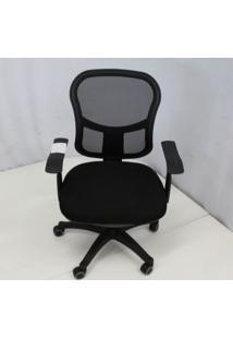 Cadeira Office Outlet Mesh Estofada Preta Base Nylon - 10 - Sun House