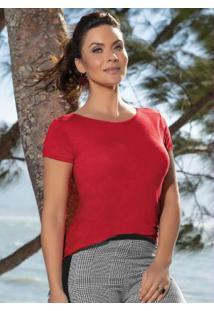 Blusa Vermelha Manga Curta