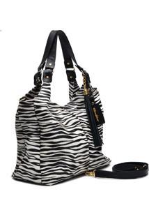 Bolsa De Couro Oliver Mour Sacola Zebra
