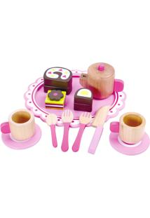 Conjunto Tooky Toy Chá Da Tarde Em Madeira Rosa