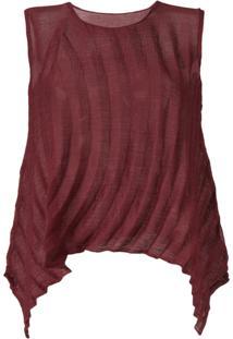 Issey Miyake Cauliflower Blusa Com Detalhe Texturizado - Vermelho