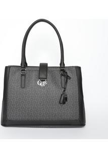 Bolsa Com Recortes & Compartimentos- Cinza Escuro & Pretguess
