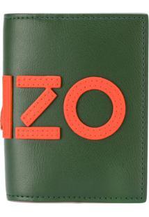 Kenzo Carteira De Couro Com Logo - Green