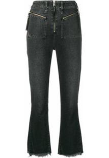 Diesel Calça Jeans Cropped - Preto