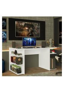Mesa Para Computador Gamer E Painel Para Tv Até 50 Madesa - Branco/Preto Branco