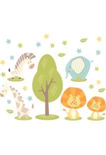 Adesivo De Parede Animais Safari Minimalista Infantil