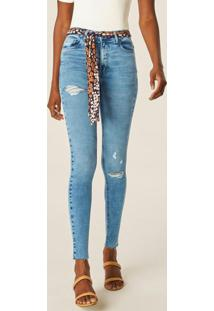 Calça Azul Claro Push Up Jeans Feminina