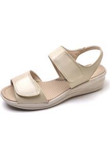 Sandalia Papete Conforto Top Franca Shoes Marfim