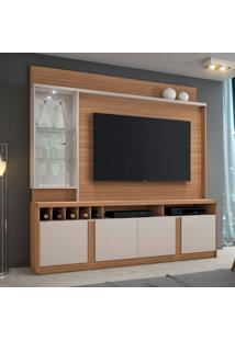 Estante Para Home Theater E Tv Até 60 Polegadas Canastra Naturale E Off White