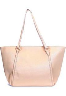 Bolsa Shopping Bag Emporionaka Clássica Feminina - Feminino-Bege