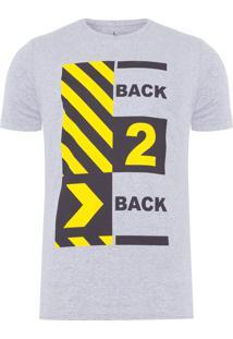Camiseta Masculina Back 2 Back - Cinza