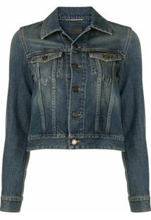 Saint Laurent Faded Denim Jacket - Azul