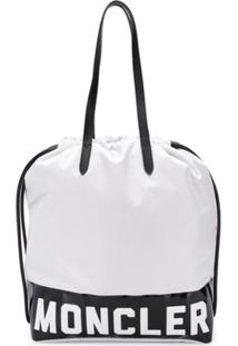 Moncler Bolsa Tote Com Logo - Branco