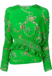 Preen By Thornton Bregazzi Blusa Floral - Verde