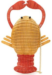 Serpui Clutch Lobster Em Palha - Neutro