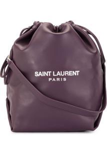 Saint Laurent Bolsa Saco Teddy - Roxo