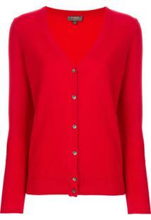 N.Peal Cardigan De Cashmere - Vermelho