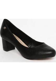 Sapato Tradicional Com Tag Metã¡Lica- Preto- Salto: 5Dumond